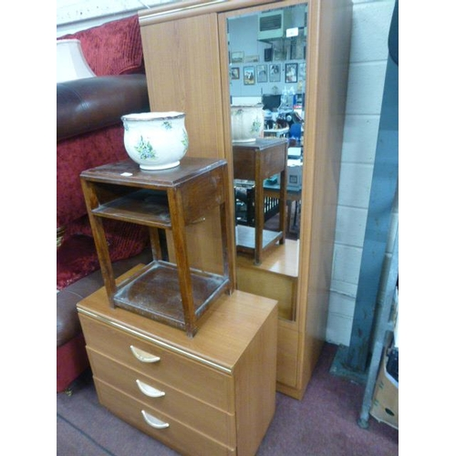 45 - WARDROBE AND CHEST OF DRAWERS...