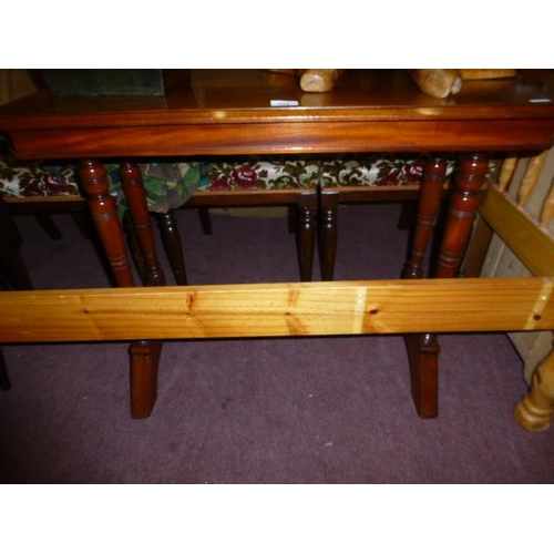 372 - VICTORIAN STRETCHER TABLE...