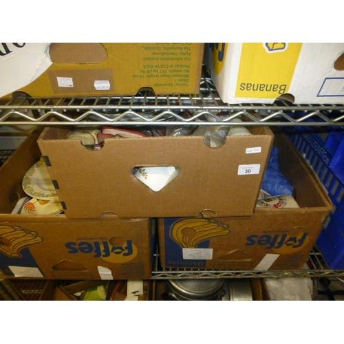 30 - 3 BOX LOTS...