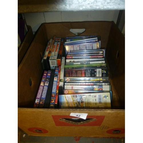 42 - BOX OF DVD'S...