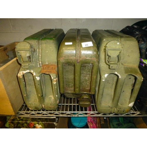 25 - 3 JERRY CANS...