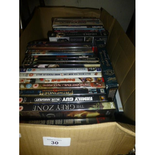 30 - BOX OF DVD'S...