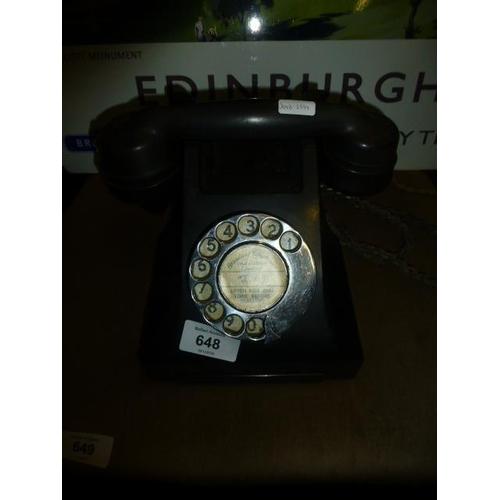 648 - VINTAGE PHONE