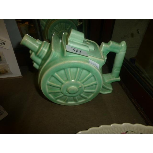 127 - 1930'S GEORGE CLEWS AND CO 'BELISHA' ARTILLERY CANON TEAPOT...