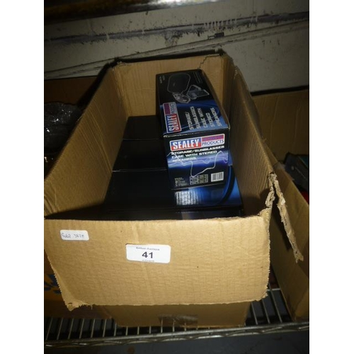 41 - BOX LOT SEALEY SUNGLASSE CASE WITH SPEAKERS...