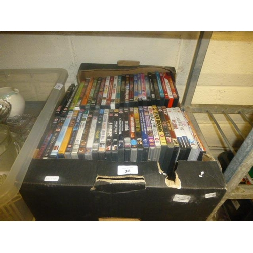 32 - BOX OF DVD'S...