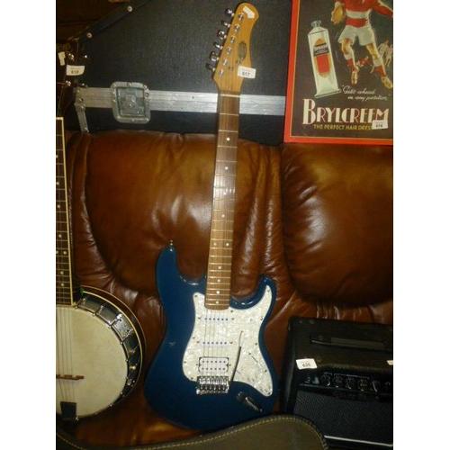 617 - BLUE STRAT GUITAR...