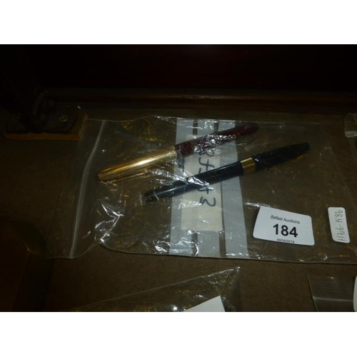 184 - 2 14CT NIBBED PENS...