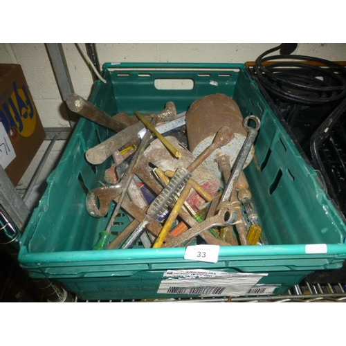 33 - BOX OF TOOLS...