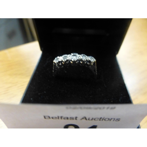 94 - 18CT GOLD AND DIAMOND RING...