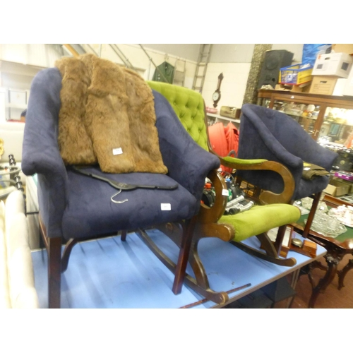 643 - PAIR OF TUB CHAIRS...