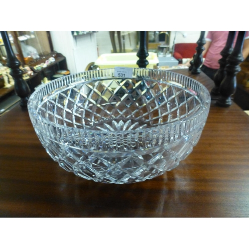 531 - WATERFORD CRYSTAL DISH...