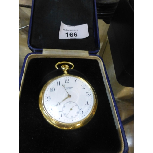 166 - 18CT GOLD ZENITH CHRONOMETER POCKET WATCH...