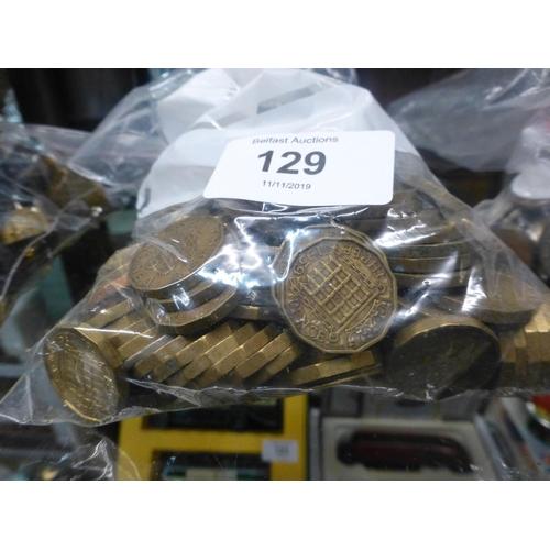 129 - BAG OF 3P PIECES...