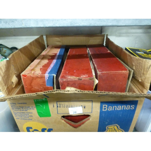 20 - BOX OF OLD MAGAZINES...