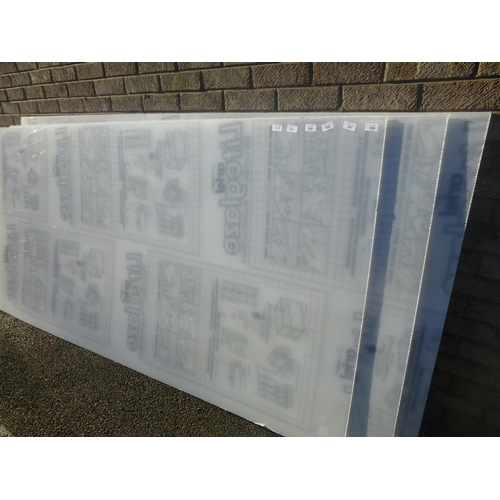 306 - 8 X 4 SHEET OF PERSPEX...