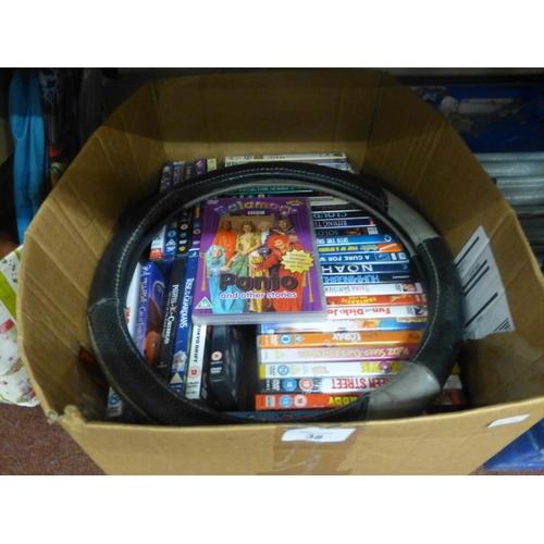 38 - BOX OF DVD'S...