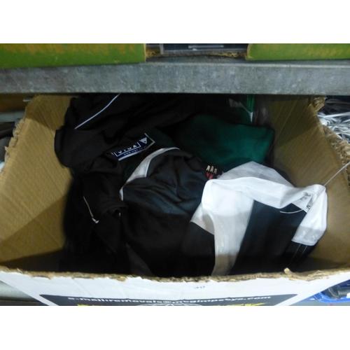 40 - BOX OF NEW CLOTHING...