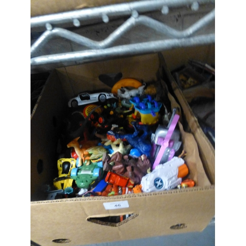 46 - BOX OF TOYS...