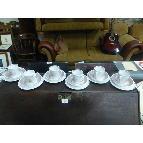 558 - SUSIE COOPER COFFEE SET...