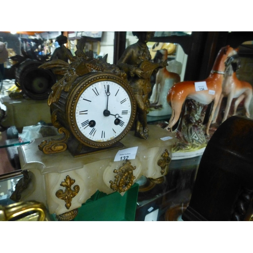 132 - FRENCH FIGURE CLOCK...