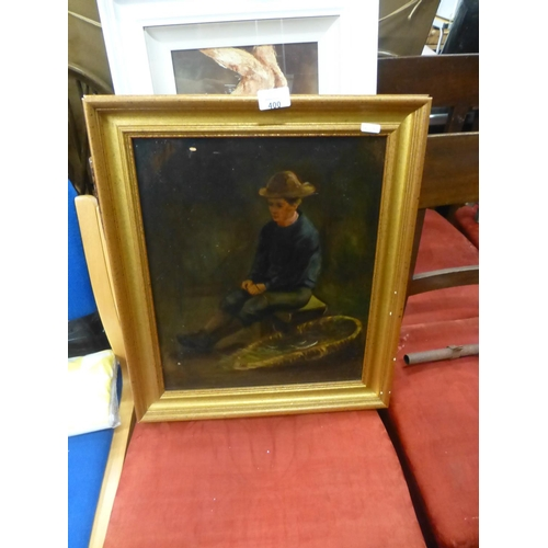 400 - THE NEWLYN FISHER BOY OIL...