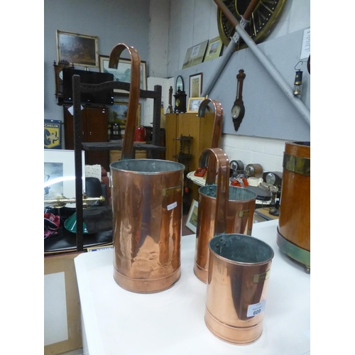608 - 3 COPPER MEASURES...