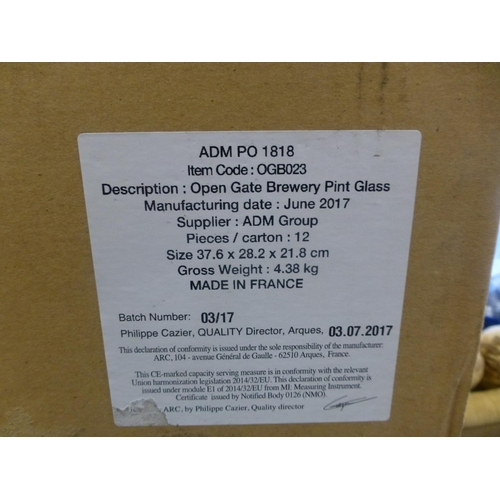 416 - BOX OF GLASSES...