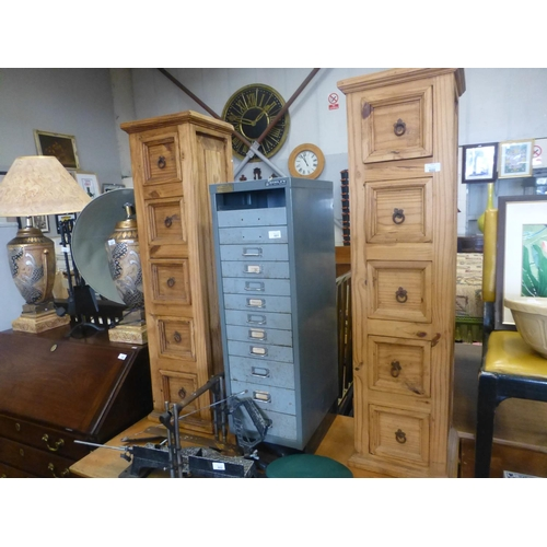 600 - PAIR OF MEXICAN PINE TALLBOYS...