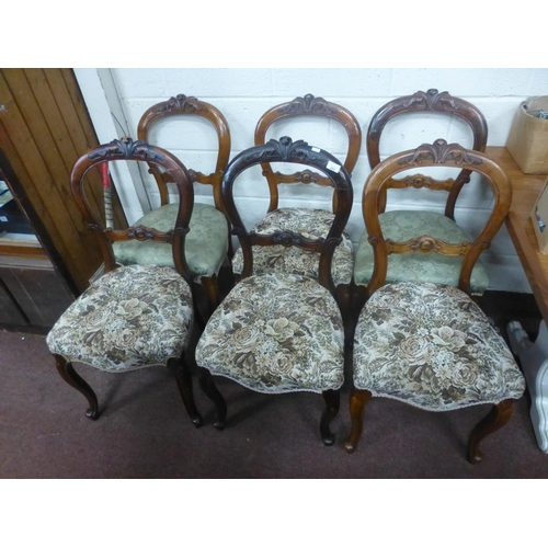 282 - SET OF 6 VICTORIAN BALLOON BACK CHAIRS