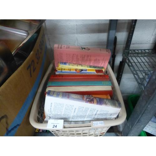 24 - BOX OF BOOKS...