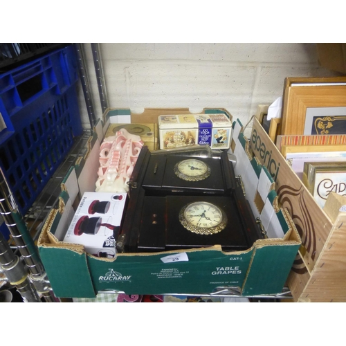 29 - BOX OF CLOCKS...