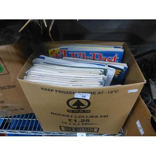 36 - BOX OF AEROPLANE MAGAZINES...