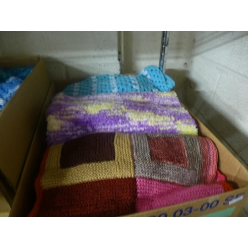 12 - BOX OF KNITTED WARE