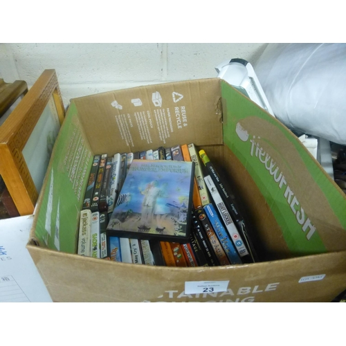 23 - BOX OF DVD'S