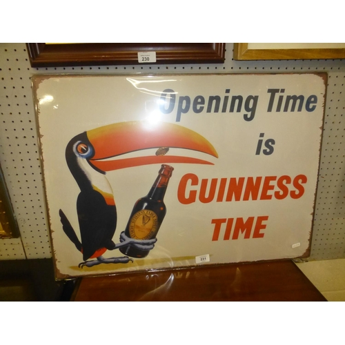 231 - LARGE GUINNESS SIGN