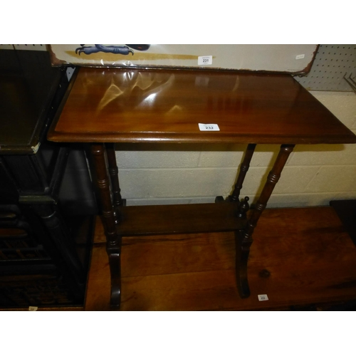 232 - VICTORIAN LAMP TABLE