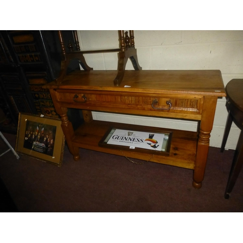 233 - MEXICAN PINE CONSOLE TABLE