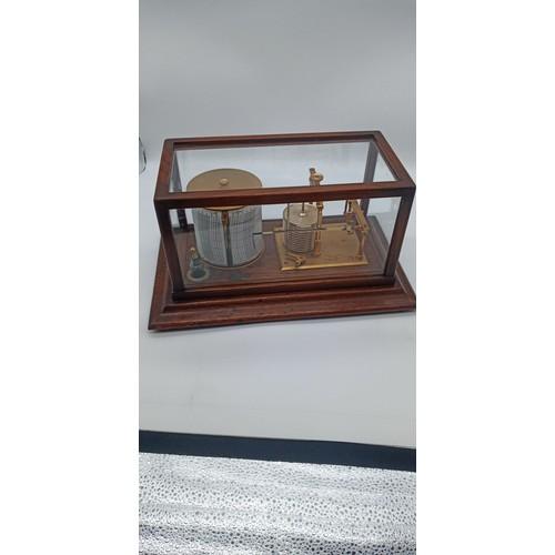 160a - Short and Mason of London 18749 Oak Cased  Barograph, Early 1900's....