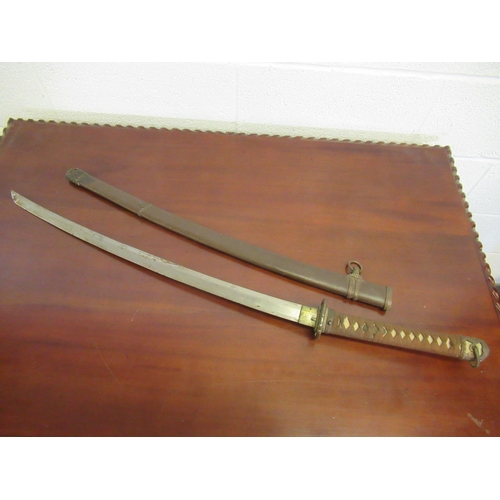 101 - Japanese Army Officers Sword (Possibly WWII) with Sharkskin Grip...