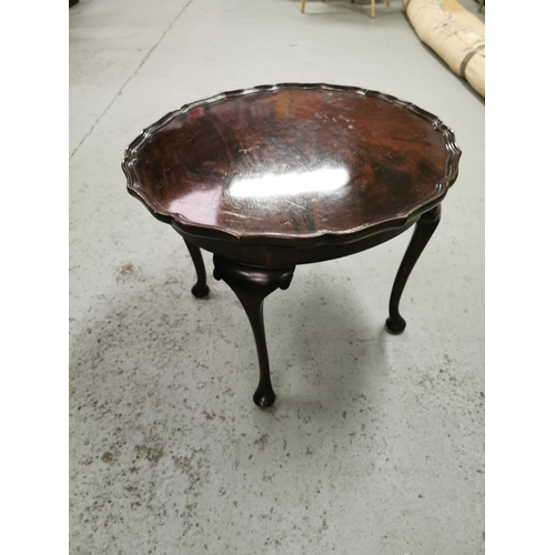320 - Mahogany Pie Crust Occasional Table...