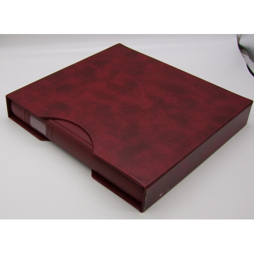 1036 - GB Lindner Hingeless Boxed Red Stamp Album With All Mint 2007-2010 Examples...