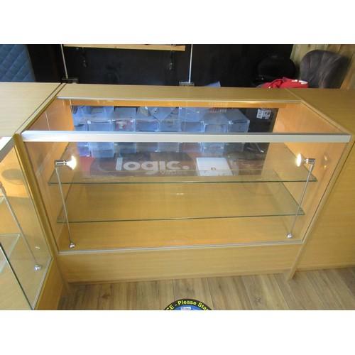 14 - A 4 Part Modular Display Counter - unit 1 Max Width 115cm x 60cm Deep x 90cm High, Unit 2 60cm Wide ...