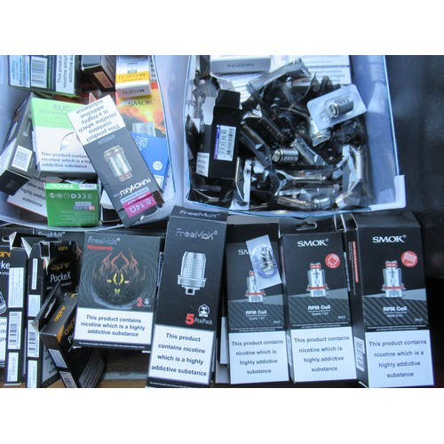 9 - A Large Selection of E-Cigarette Coils (Some boxes incomplete) - Approx 100. To also include a quant...