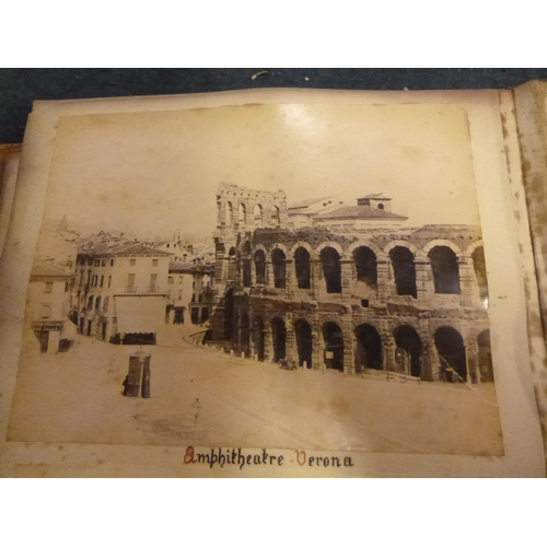 3a - An Antique Book Containing Photographs of Verona etc. - Italian Scenes...