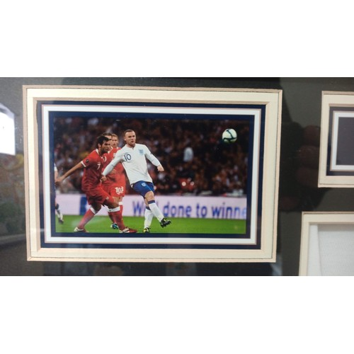 40a - Wayne Rooney Signed and Framed England Shirt with Certificate of Authenticity...