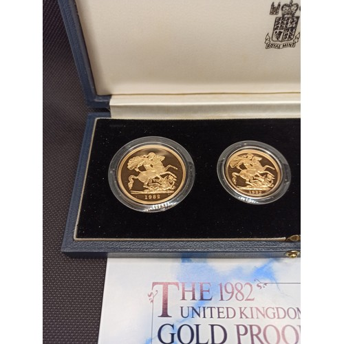 3a - The 1982 United Kingdom Gold Proof Collection Limited Edition of 2500 sets, UFDC Grade, consisting o...