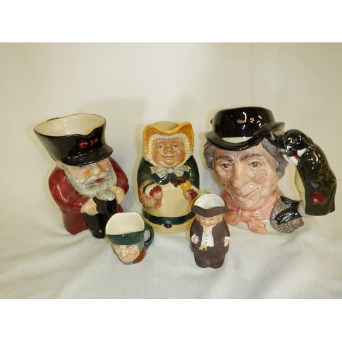 480 - A Selection of Toby Jugs inc. Nood & Sons