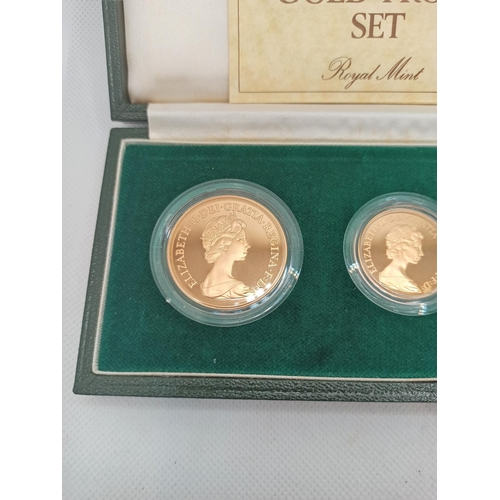 1a - The 1980 United Kingdom Gold Proof Collection Limited Edition of 2500 sets, UFDC Grade, consisting o...