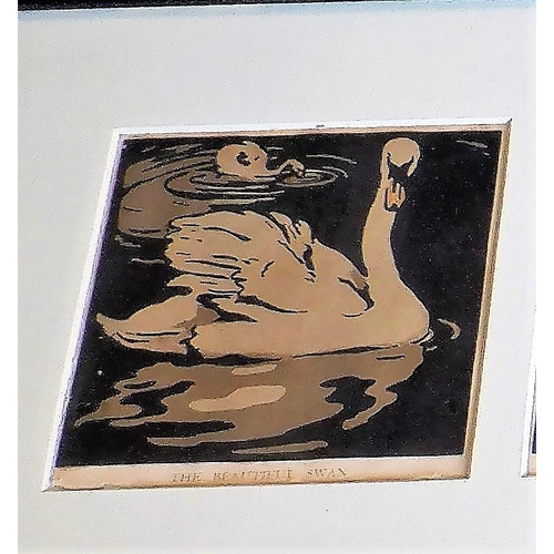 19 - 6 Framed Prints by William Nicholson in One Frame, used as illustrations in the book